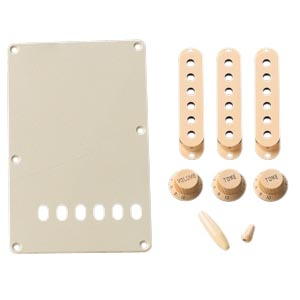 Genuine Fender Aged White Accessory Kit for Stratocaster 099-1368-000 NEW